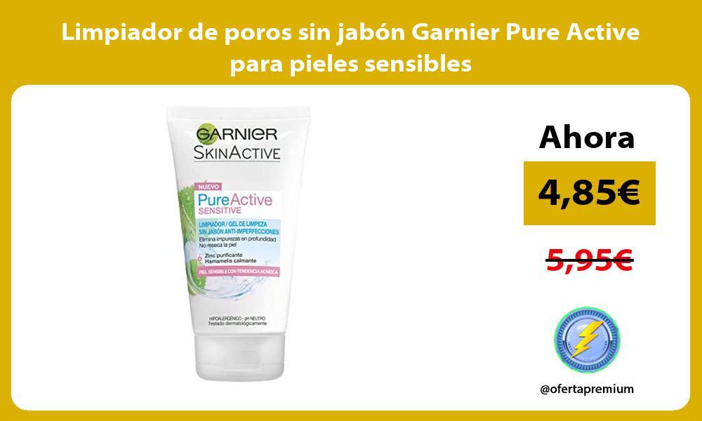 Limpiador de poros sin jabón Garnier Pure Active para pieles sensibles