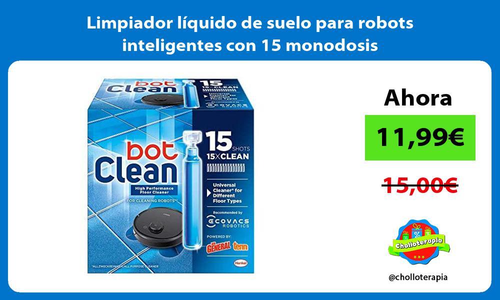 Limpiador líquido de suelo para robots inteligentes con 15 monodosis