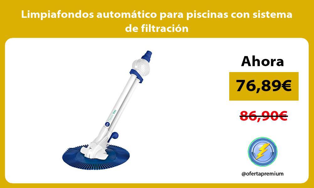 Limpiafondos automático para piscinas con sistema de filtración