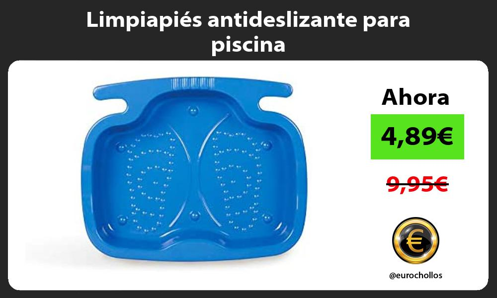 Limpiapiés antideslizante para piscina
