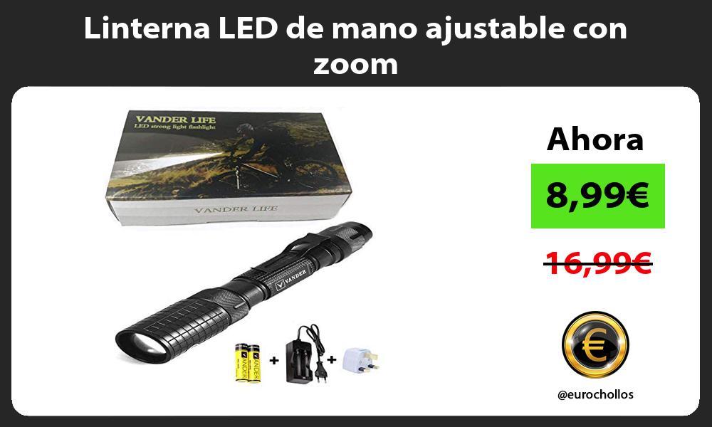 Linterna LED de mano ajustable con zoom