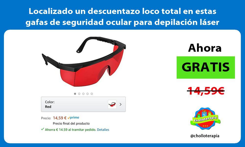 Localizado un descuentazo loco total en estas gafas de seguridad ocular para depilación láser