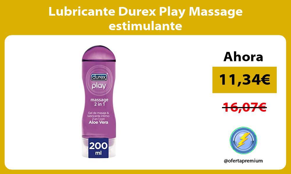 Lubricante Durex Play Massage estimulante
