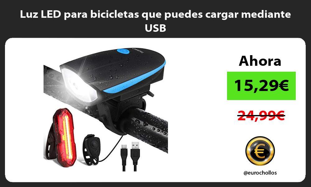 Luz LED para bicicletas que puedes cargar mediante USB