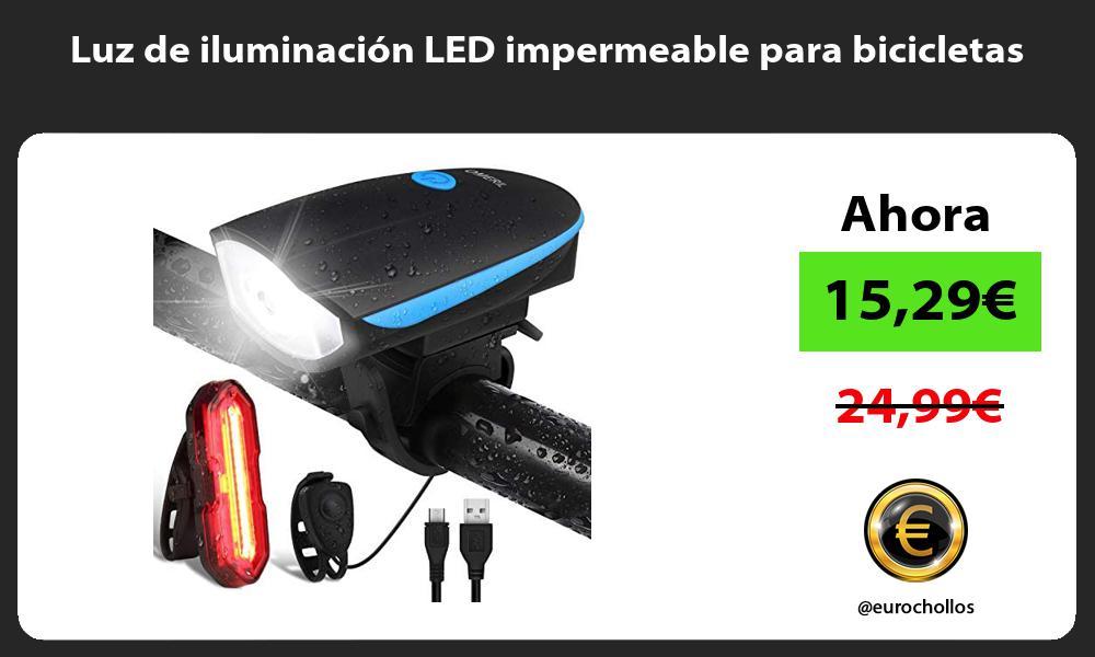 Luz de iluminación LED impermeable para bicicletas
