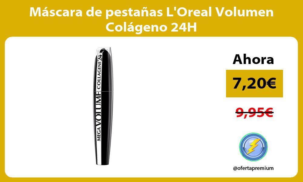 Máscara de pestañas LOreal Volumen Colágeno 24H