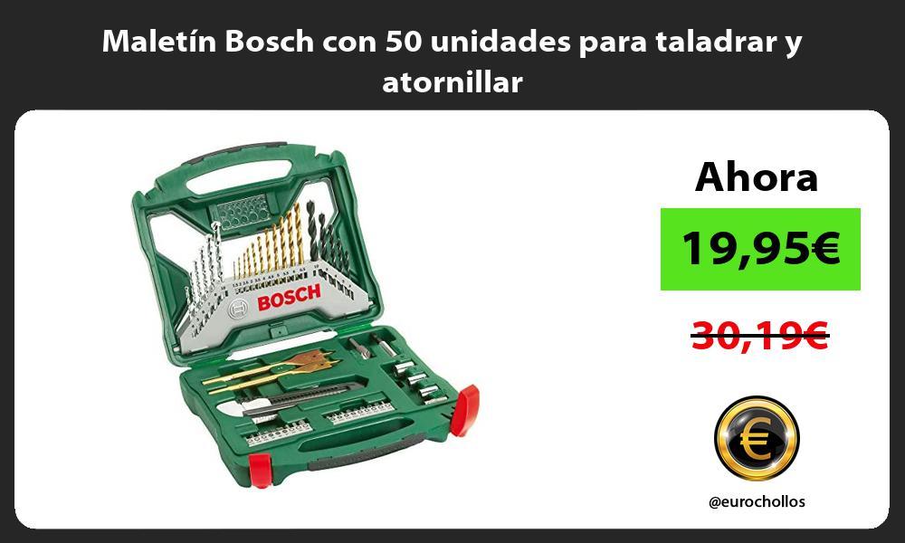 Maletín Bosch con 50 unidades para taladrar y atornillar