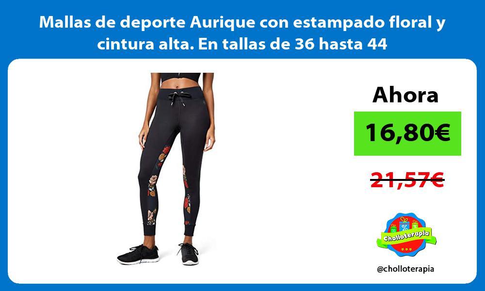 Mallas de deporte Aurique con estampado floral y cintura alta En tallas de 36 hasta 44
