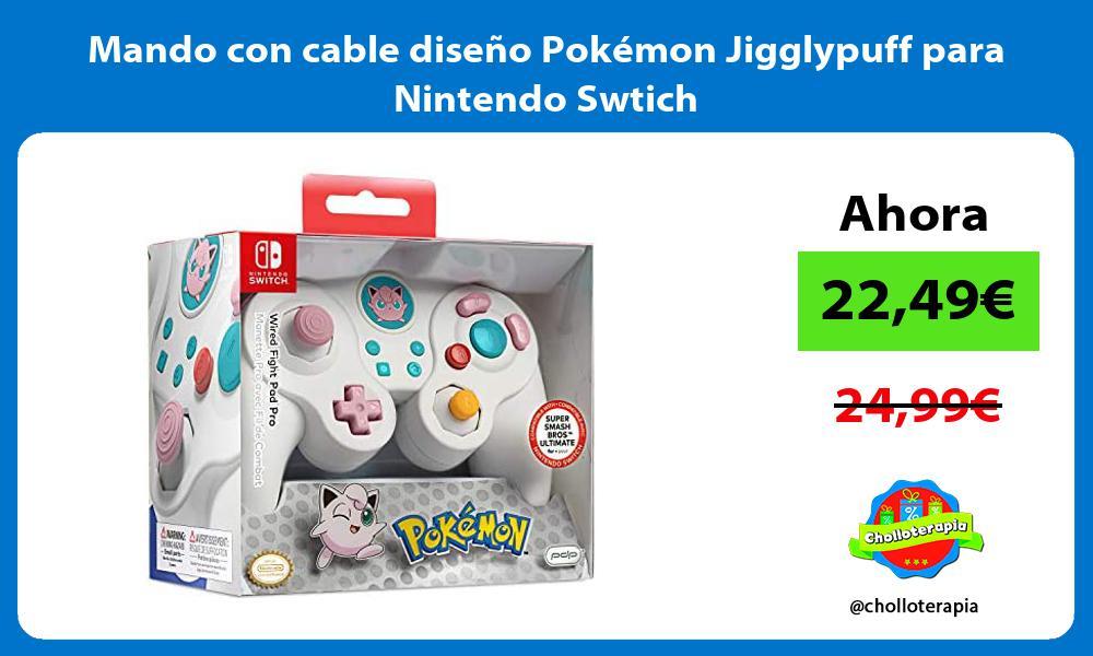 Mando con cable diseño Pokémon Jigglypuff para Nintendo Swtich