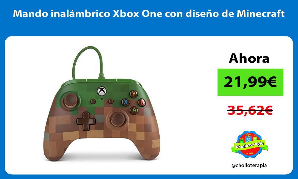 Mando inalámbrico Xbox One con diseño de Minecraft