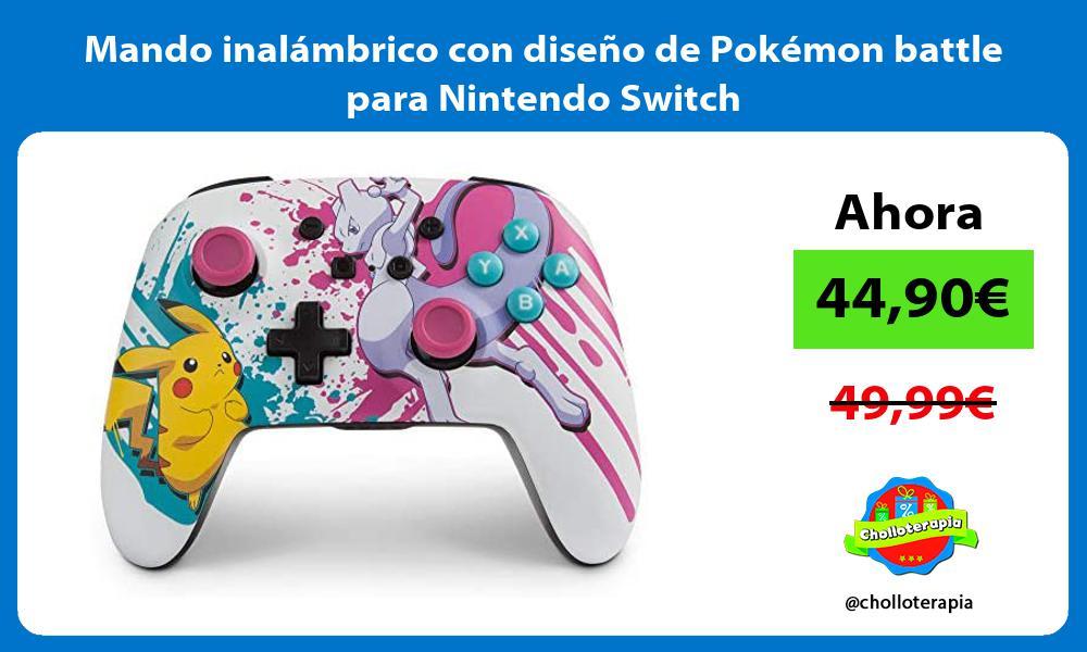 Mando inalámbrico con diseño de Pokémon battle para Nintendo Switch