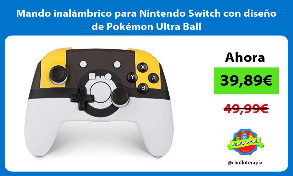 Mando inalámbrico para Nintendo Switch con diseño de Pokémon Ultra Ball