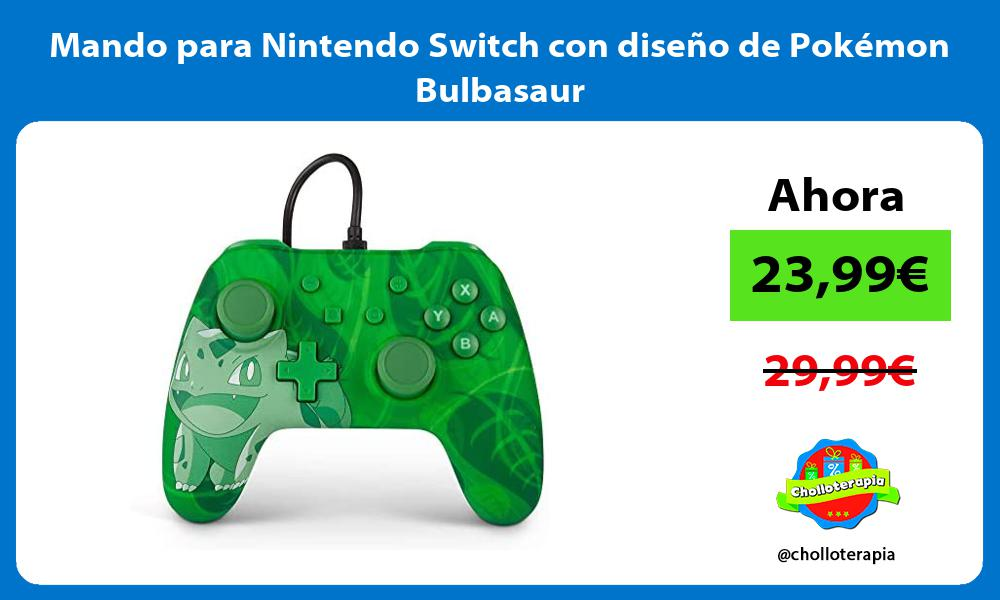 Mando para Nintendo Switch con diseño de Pokémon Bulbasaur