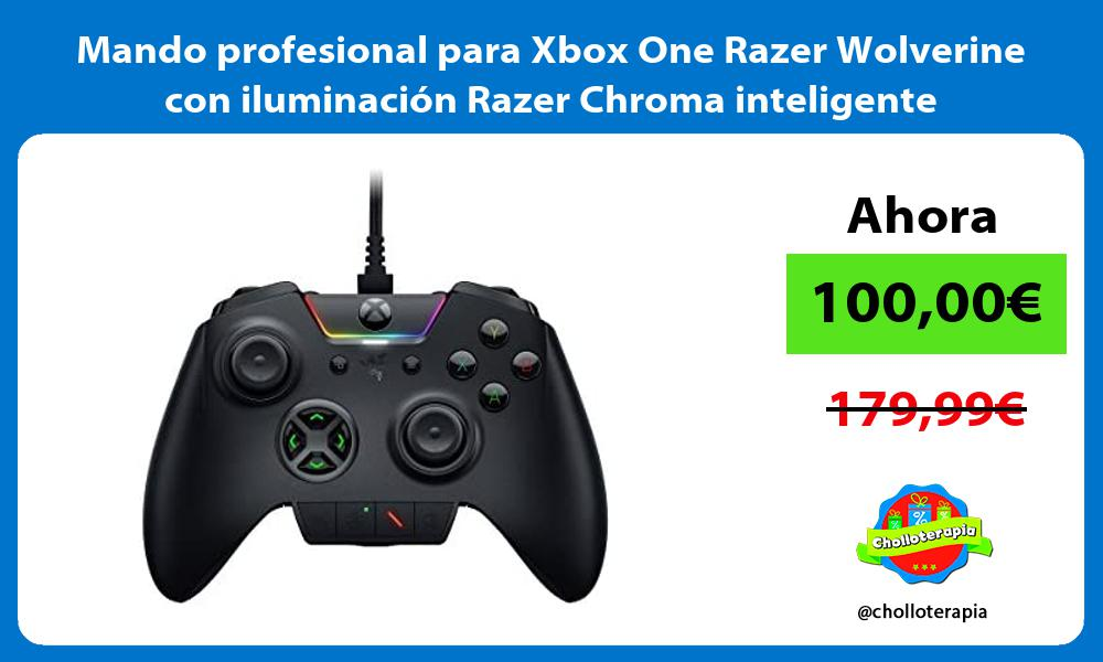 Mando profesional para Xbox One Razer Wolverine con iluminación Razer Chroma inteligente