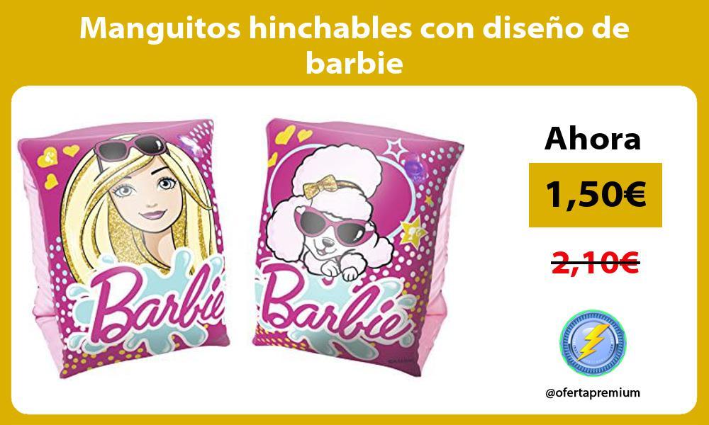 Manguitos hinchables con diseño de barbie