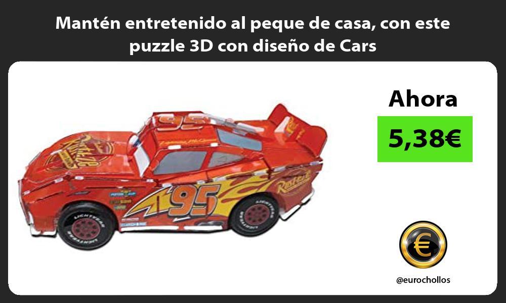 Mantén entretenido al peque de casa con este puzzle 3D con diseño de Cars