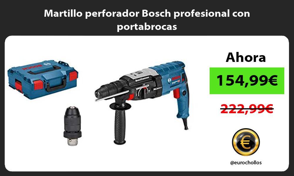 Martillo perforador Bosch profesional con portabrocas