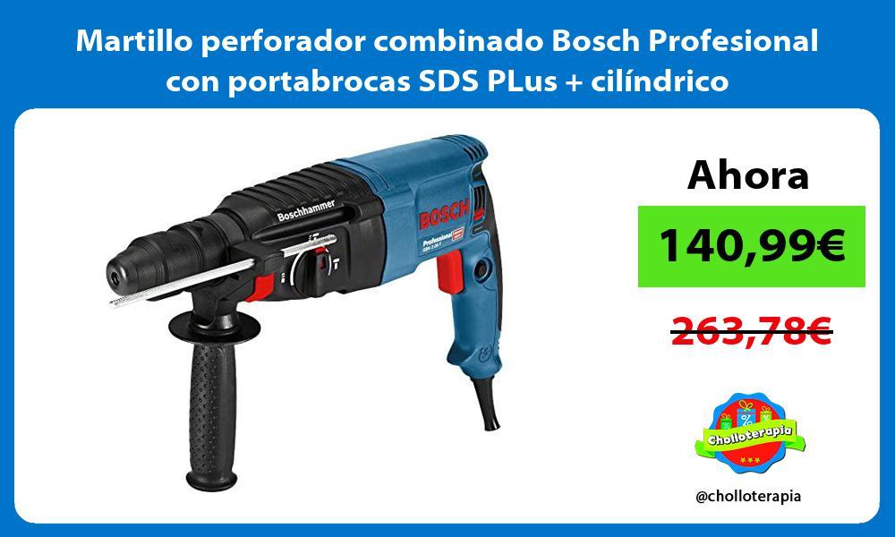 Martillo perforador combinado Bosch Profesional con portabrocas SDS PLus cilíndrico