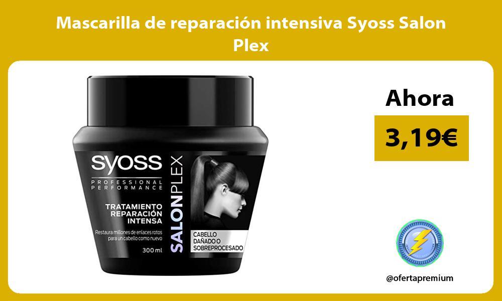 Mascarilla de reparación intensiva Syoss Salon Plex