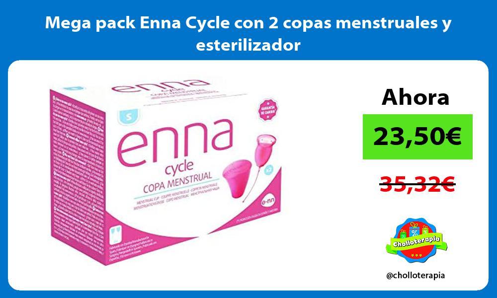 Mega pack Enna Cycle con 2 copas menstruales y esterilizador