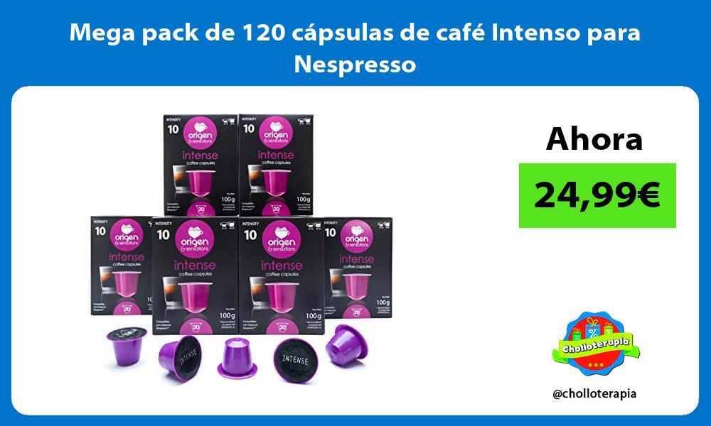 Mega pack de 120 cápsulas de café Intenso para Nespresso