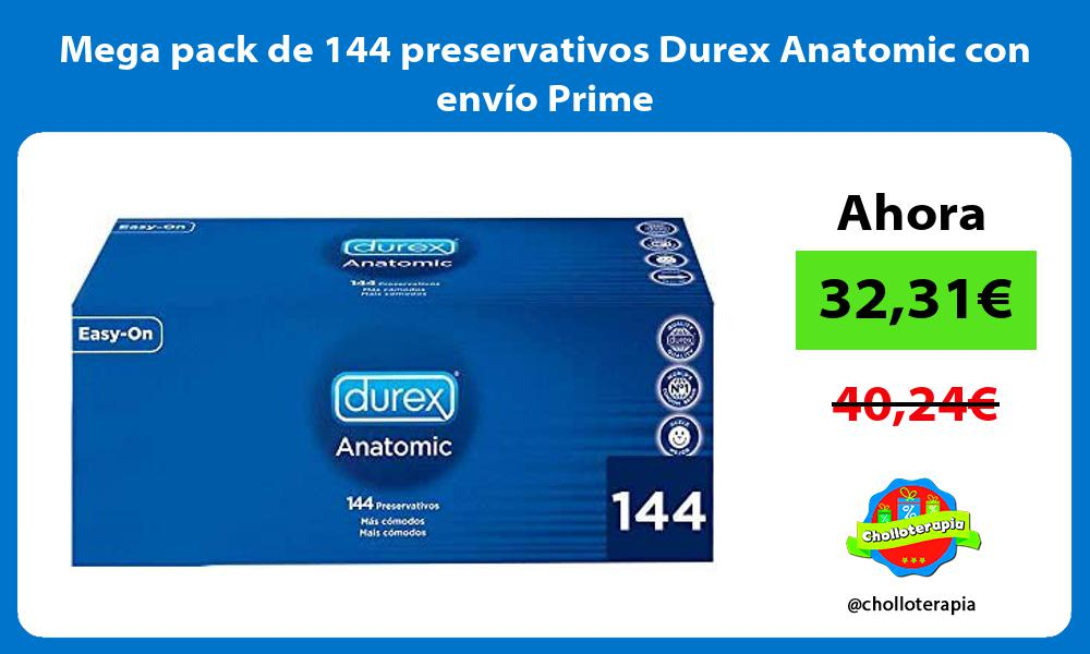 Mega pack de 144 preservativos Durex Anatomic con envío Prime