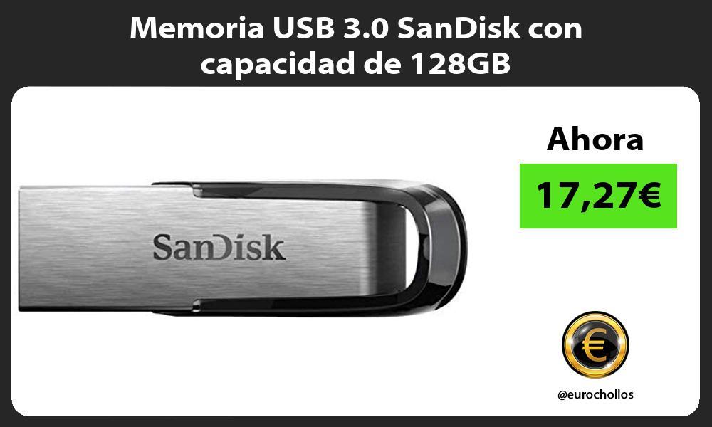 Memoria USB 3 0 SanDisk con capacidad de 128GB