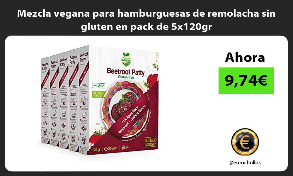 Mezcla vegana para hamburguesas de remolacha sin gluten en pack de 5x120gr