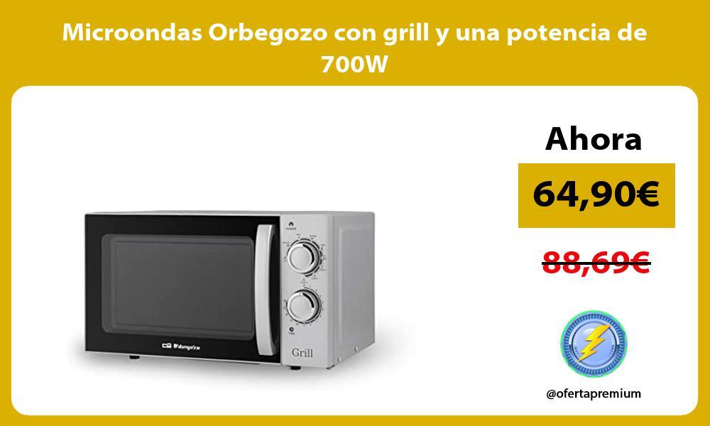 Microondas Orbegozo con grill y una potencia de 700W