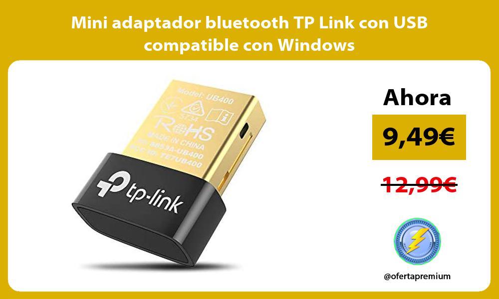 Mini adaptador bluetooth TP Link con USB compatible con Windows