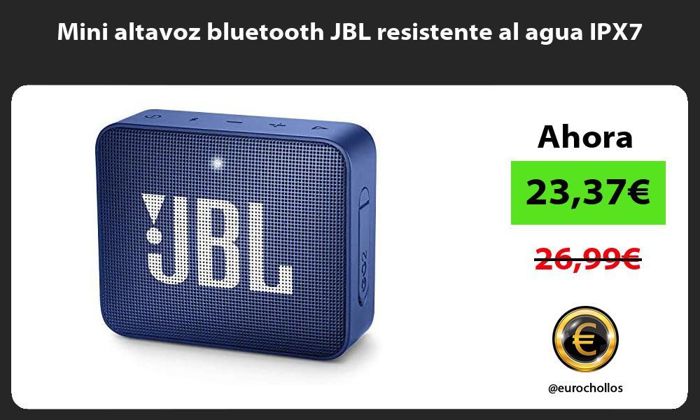 Mini altavoz bluetooth JBL resistente al agua IPX7
