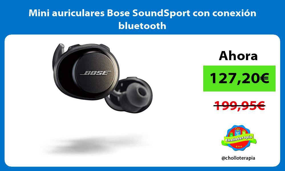 Mini auriculares Bose SoundSport con conexión bluetooth