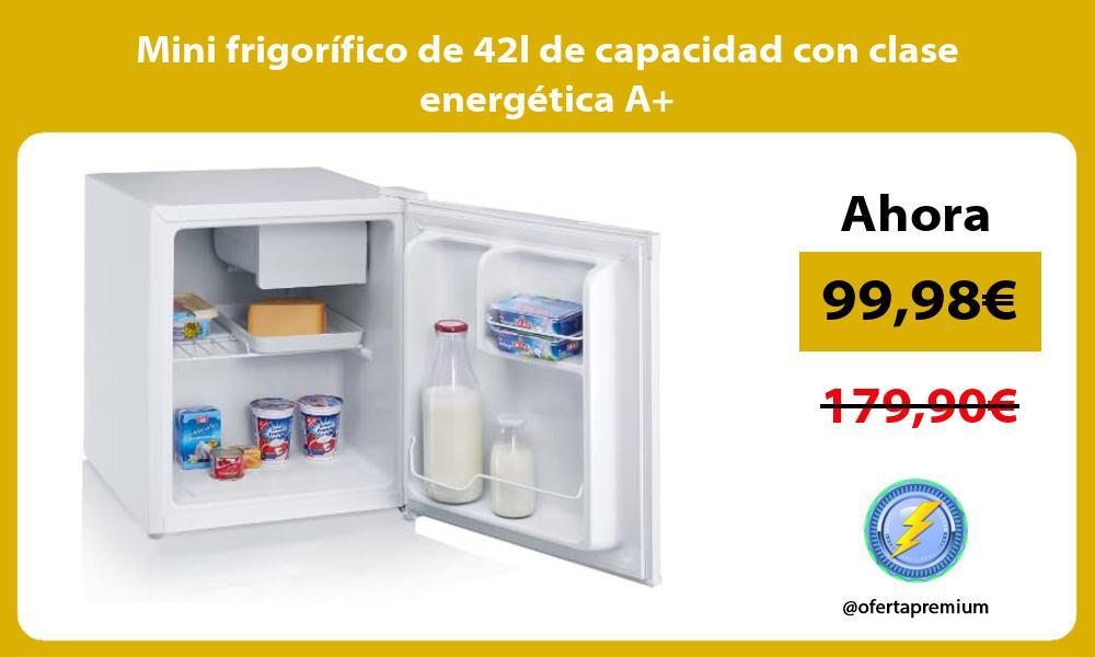 Mini frigorífico de 42l de capacidad con clase energética A