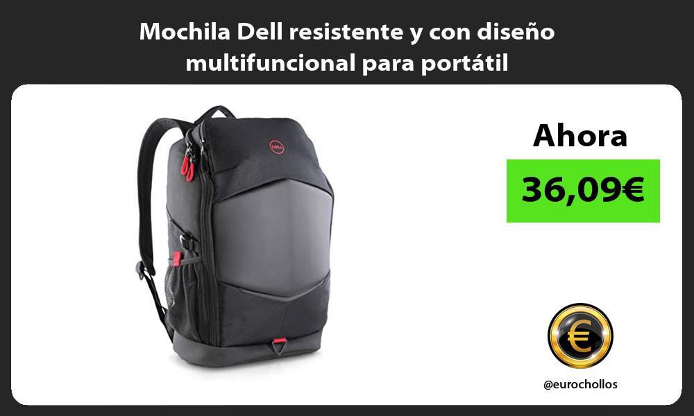 Mochila Dell resistente y con diseño multifuncional para portátil