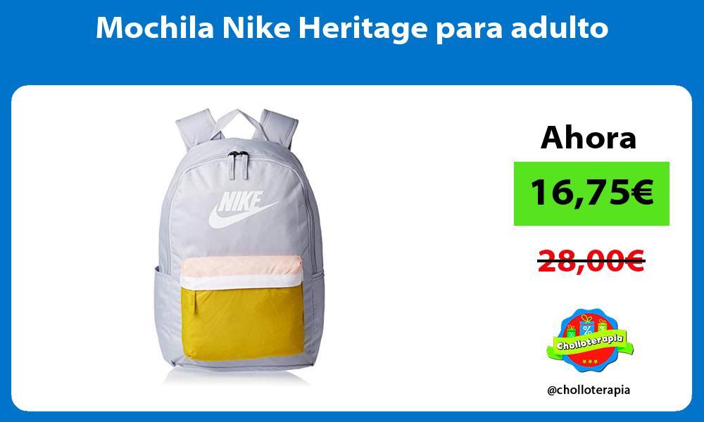Mochila Nike Heritage para adulto