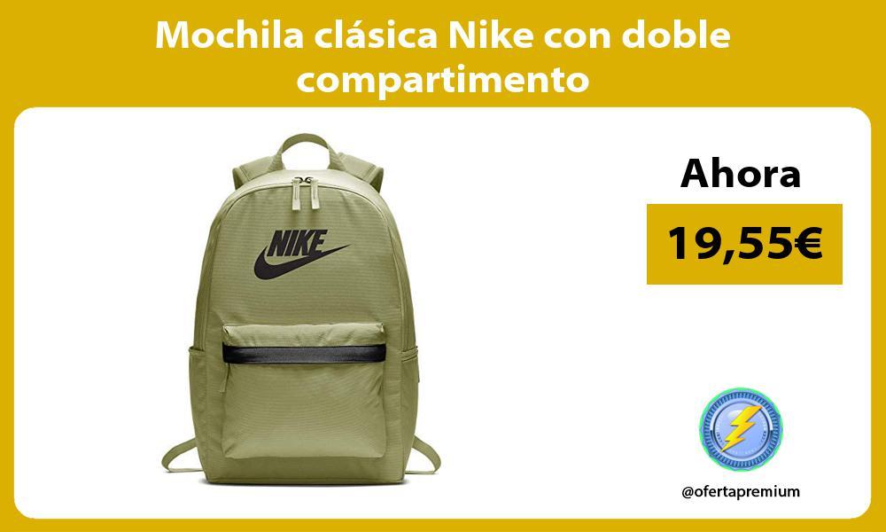 Mochila clásica Nike con doble compartimento
