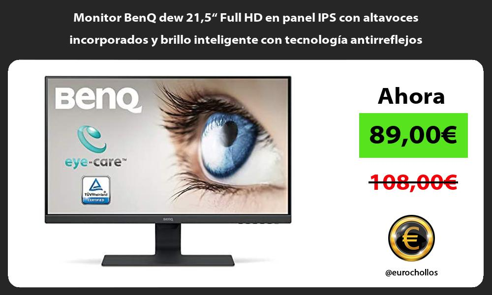 """Monitor BenQ dew 215"""" Full HD en panel IPS con altavoces incorporados y brillo inteligente con tecnología antirreflejos"""