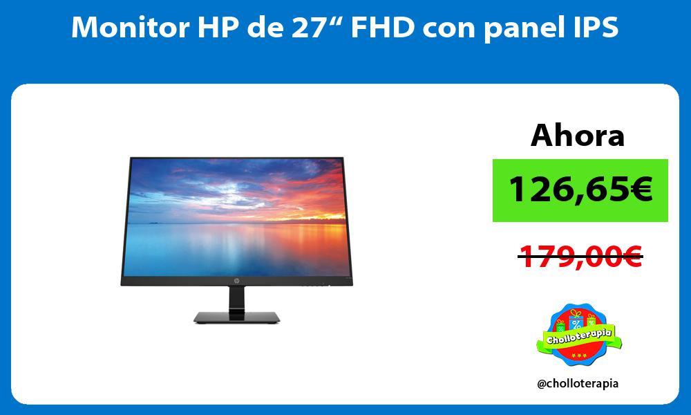 """Monitor HP de 27"""" FHD con panel IPS"""