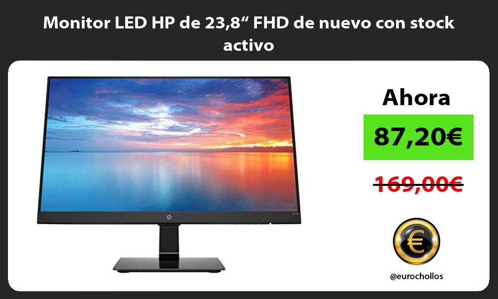 "Monitor LED HP de 238"" FHD de nuevo con stock activo"