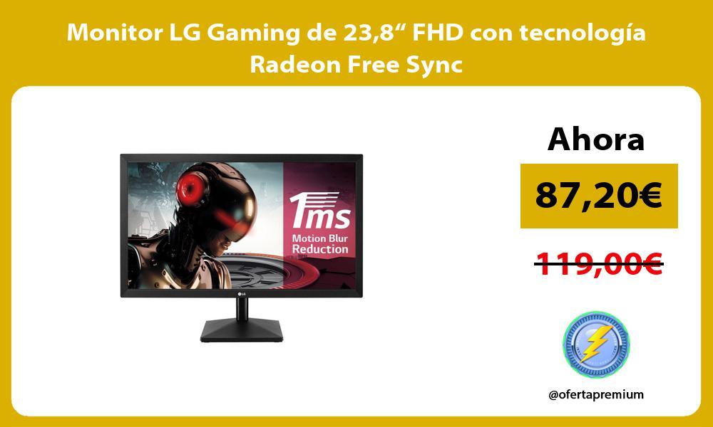 """Monitor LG Gaming de 238"""" FHD con tecnología Radeon Free Sync"""