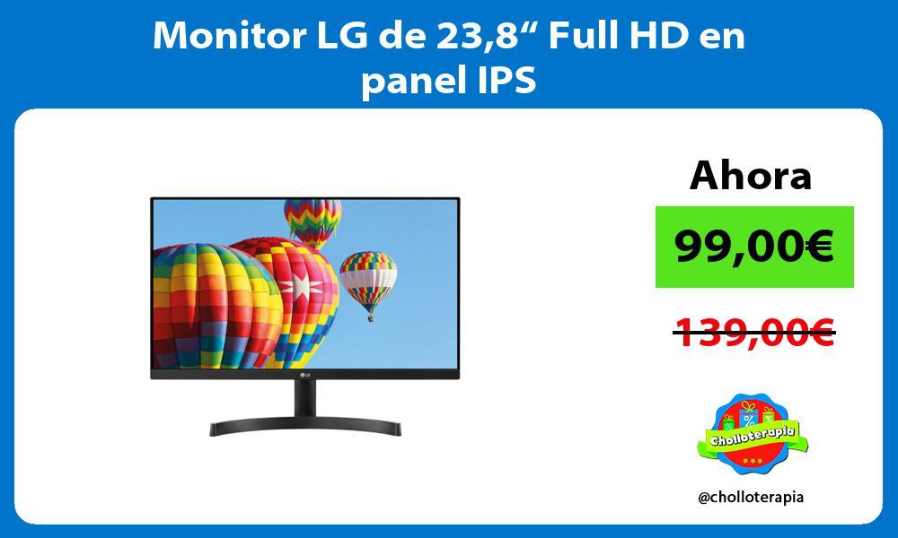 """Monitor LG de 238"""" Full HD en panel IPS"""
