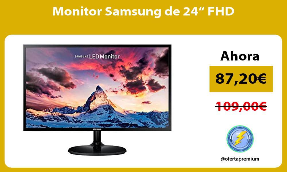 "Monitor Samsung de 24"" FHD"