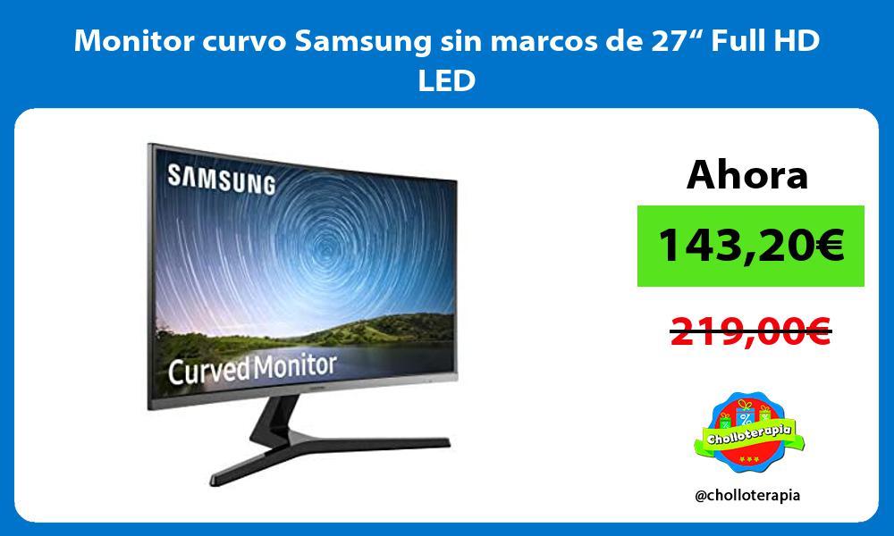 """Monitor curvo Samsung sin marcos de 27"""" Full HD LED"""
