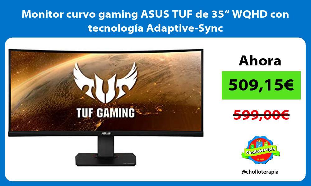 """Monitor curvo gaming ASUS TUF de 35"""" WQHD con tecnología Adaptive Sync"""