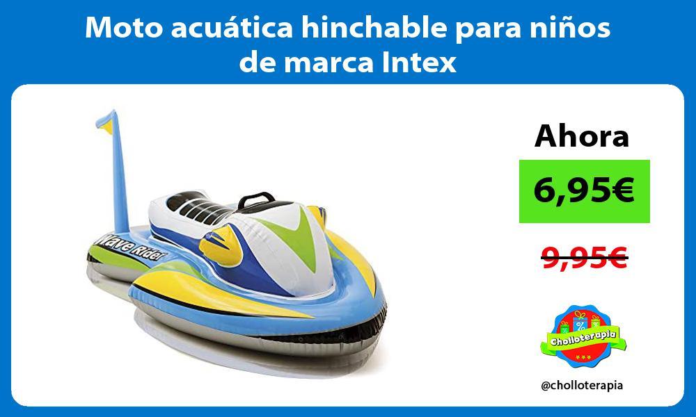 Moto acuática hinchable para niños de marca Intex