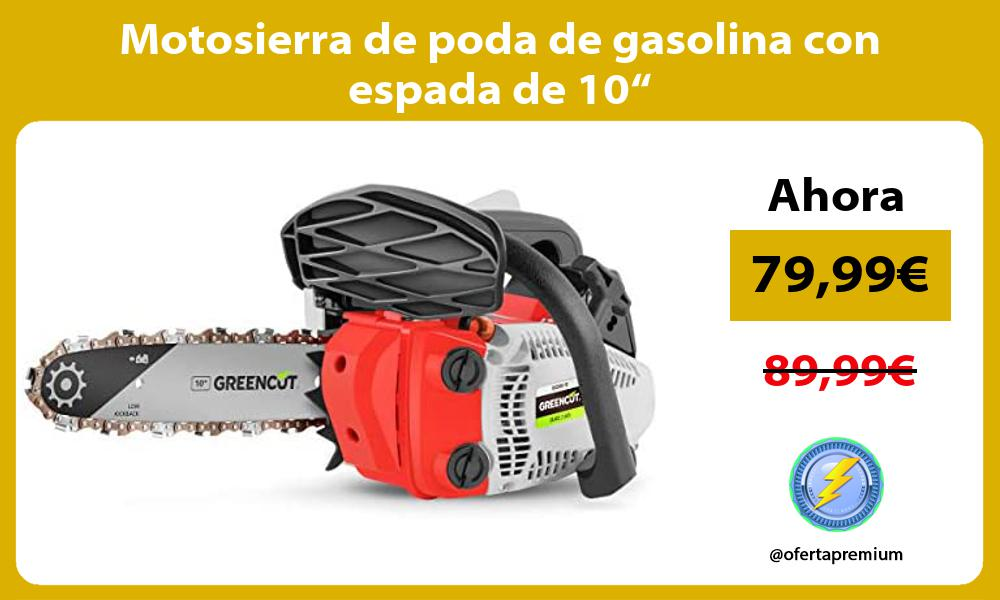 """Motosierra de poda de gasolina con espada de 10"""""""