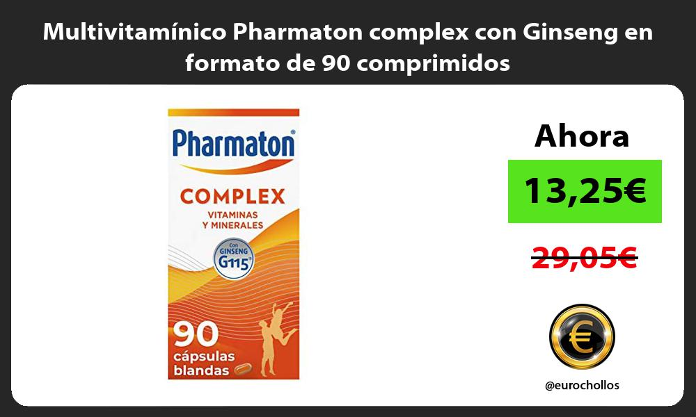 Multivitamínico Pharmaton complex con Ginseng en formato de 90 comprimidos