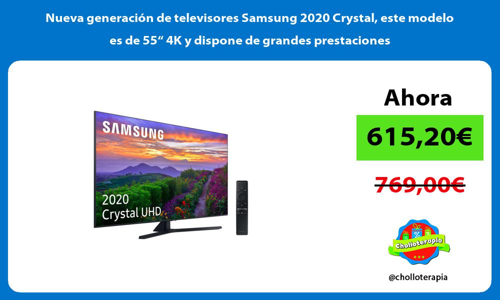 """Nueva generación de televisores Samsung 2020 Crystal este modelo es de 55"""" 4K y dispone de grandes prestaciones"""