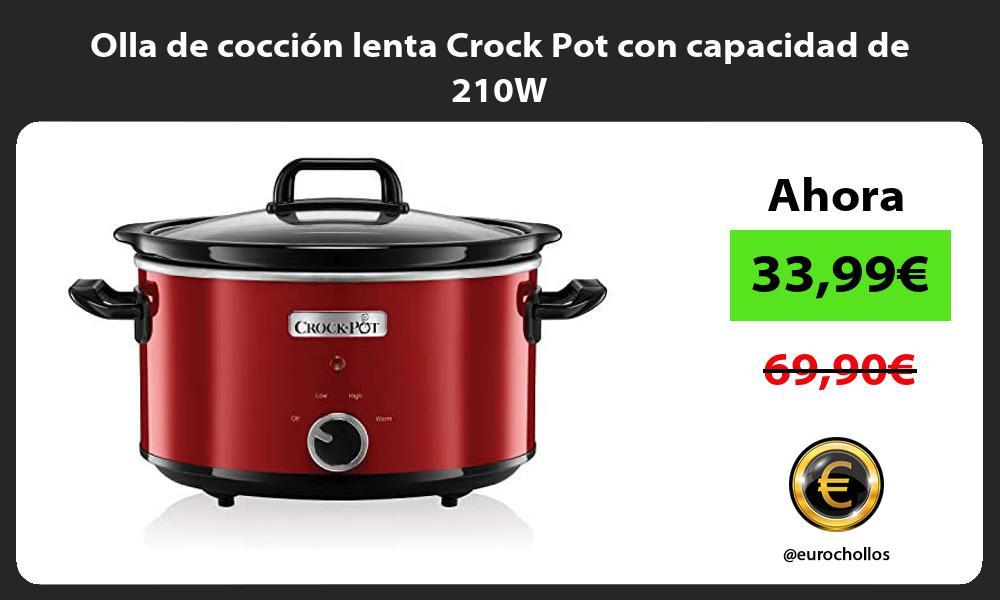 Olla de cocción lenta Crock Pot con capacidad de 210W