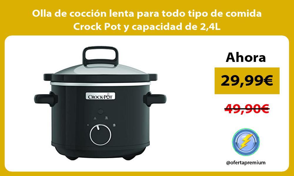 Olla de cocción lenta para todo tipo de comida Crock Pot y capacidad de 24L